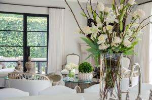 White Roses White Lilies White Peonies White Interiors Garden View
