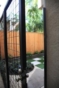 Iron Gate Allows Air Circulation