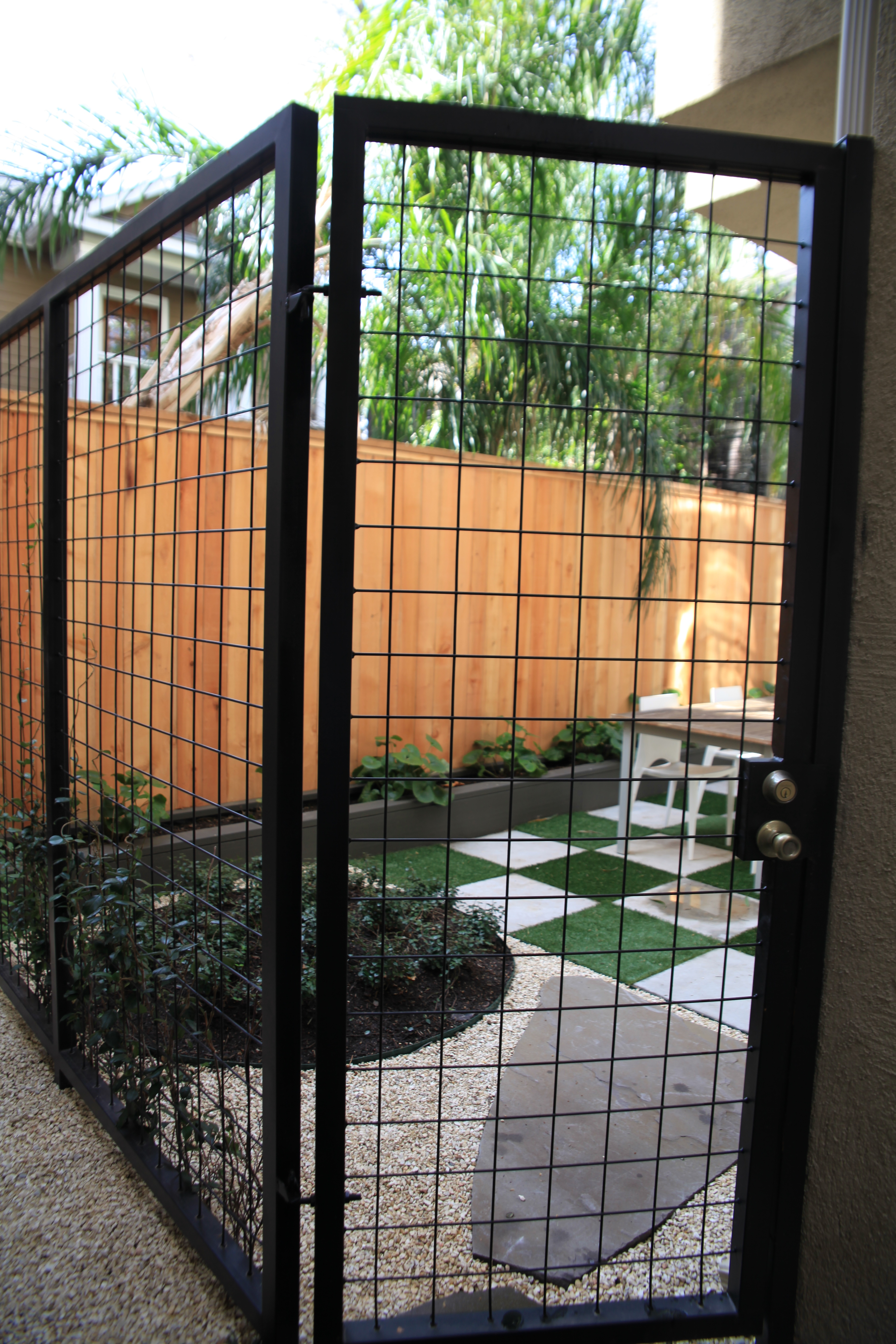 Side Image Of Townhouse Patio Gate