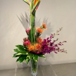 Exotic Botanical Vertical Floral Arrangement