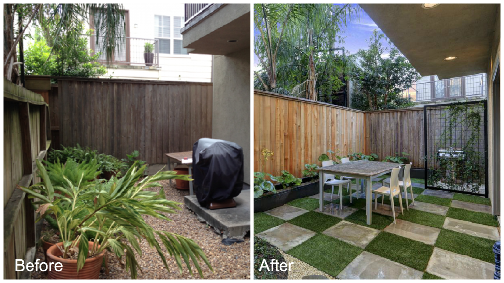 Before & After Project for Townhouse Patio