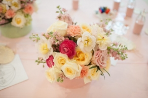 Bright Bouquet Garden Rose, Peony, Stock and Ranunculus
