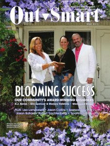 Glenwood Weber of Glenwood Weber Design on the issue of OutSmart Magazine May 2013