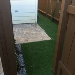 Artificial Sod ordered by gravel and pavers