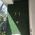 Faux Artificial Green Wall Panel with Faux Boxwood