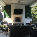 Faux Artificial Green Wall Panels in a Cozy Outdoor Patio
